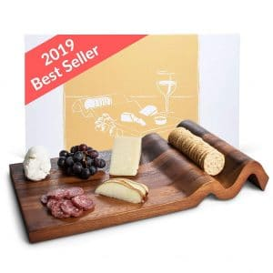 Nest and Nook Cheese Board Charcuterie Board Acacia Wood Trays