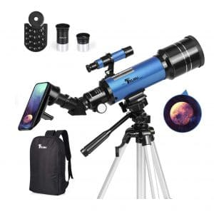 TELMU Telescope with 70mm Aperture for Astronomy