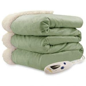ure Warmth Electric Heated Throw Blanket