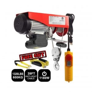 Partsam 1320lbs Lift Electric Hoist