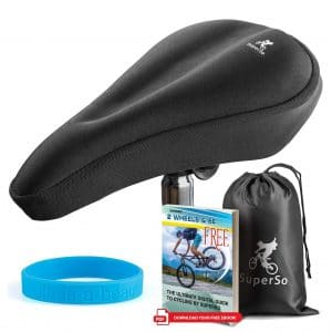 SuperSo Bike Gel Seat Cover - Premium Padded Saddle for Passionate Cyclists