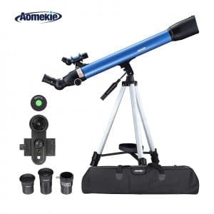 Aomekie Telescope for Astronomy Beginners with Adjustable Tripod and Carrying Bag