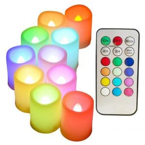 Sweetime Colored Flameless Candles