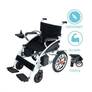 Horizon Mobility Lightweight Foldable Lithium Battery Electric Wheelchair (Black)