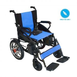 Culver Medical New Model Foldable Lightweight Electric Wheelchair