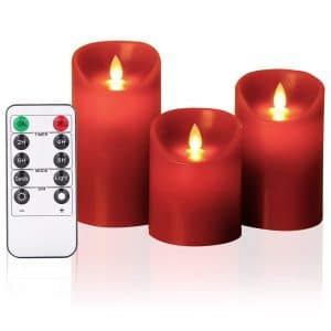 Oshine Red Flameless Candle