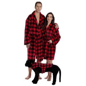 Followme Matching Velour Lounge Robes for Family