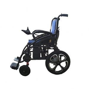 Alton Medical Transport Friendly Folding Electric Wheelchairs for Adults (Blue)
