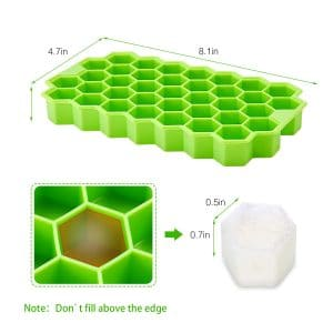 Rechishre 74 Ice Cubes 2-Pack Ice Cube Trays