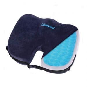 Lisenwood Memory Foam Coccyx Gel Seat Cushion