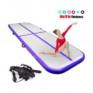 FBSPORT 8-inches/4-inches Thickness Gymnastics mats with Electric Pump