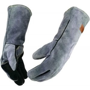 WZQH 16-Inches Leather Forge Heat-Resistant Gloves