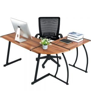 GreenForest L Shaped Corner Desk for Home Office Computer
