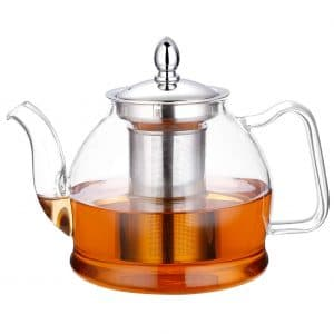 Hiware 1000ml Glass Teapot with Infuser