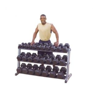 IRON COMPANY Body-Solid 3 Tier Horizontal Dumbbell Rack