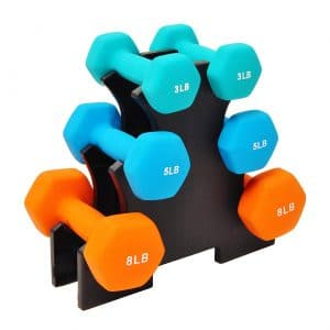 BalanceFrom GoFit All-Purpose Dumbbells in Pair or Set with Rack