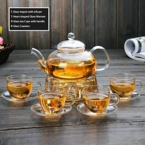 Tortoise IT Clear Glass Teapot
