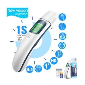 ChooseenNew 8-in-1 Digital Medical Ear & Forehead Thermometer [Upgraded]