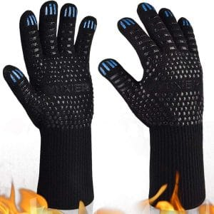 YUXIER Oven Gloves 1472-Degrees F Heat-Resistant