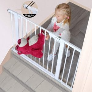 Cumbor 43.3-inches Auto Close Safety Baby Gate