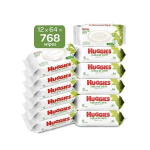 HUGGIES Natural Care Sensitive Water-Based Unscented Baby Wipes, 768 Count