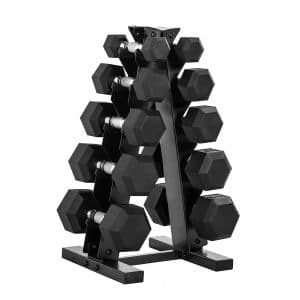 CAP Barnell Dumbbell Set with Rack