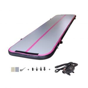 HEYLIFE 8-inches/4-inches Thick Gymnastics Inflatable Mat,
