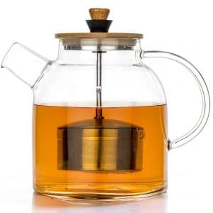 Tealyra Heat-Resistant 1400ml Glass Teapot