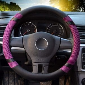 A durable material is all that is needed to ensure that you have the best steering wheel cover. Microfiber being one of the best covers in the market is breathable and absorbs much of your hand sweat while you drive. The BOKIN Steering Wheel Cover is made using the latest sewing technology ensuring that the cover is durable and long-lasting to give the best service and also protect your steering wheel. Additionally, the cover has the best customer support in case you need assistance.