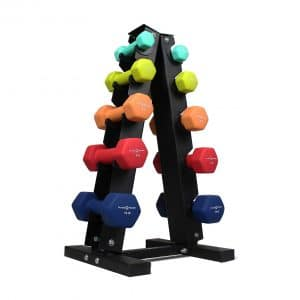 Fitness Republic Solid Steel Dumbbell Rack Holder Combo