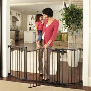 North State 72-inches Wide Deluxe Décor Baby Gate