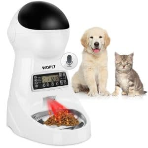 WOPET Pet Feeder with Stainless Steel Bowl
