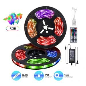 WENHSIN LED 32.8ft Strip Lights Kit IP65 with Waterproof Power Supply