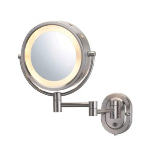 Jerdon HL65N Lighted Wall Mount Makeup Mirror