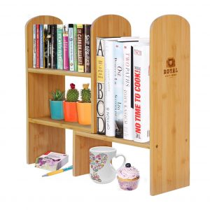 Royal Expandable Natural Bamboo Desk Organizer