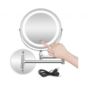 BRIGHTINWD Wall Mounted Makeup Mirror