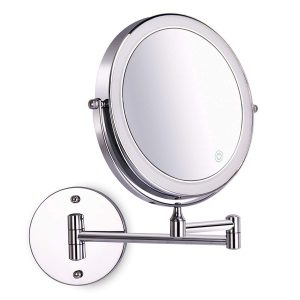 Amelar Wall Mounted Lighted Makeup Mirror
