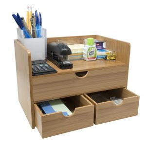Sorbus 3-Tier Bamboo Shelf Organizer