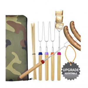 Wup Extendable Rotating Marshmallow Roasting Sticks