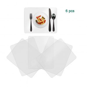Greengoal Washable Clear Plastic Placemats