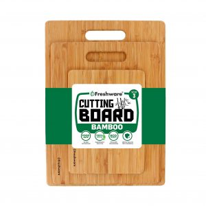 Freshware Pack of 3 Wood Cutting Boards