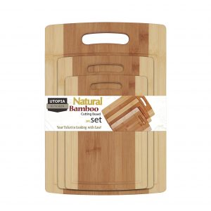Utopia Kitchen 3-Piece Natural Bamboo Cutting Boards
