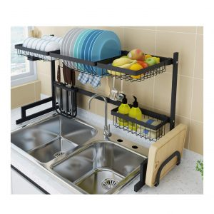 COVAODQ Over Sink Stainless Steel Dish Drying Rack