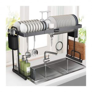 G-TING Expandable Over the Sink Dish Rack