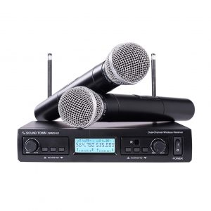 Sound Town 200-Channel Professional UHF Wireless Microphone