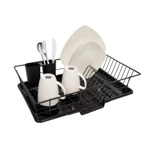Sweet Home Collection Dish Drainer 3 Piece Rack