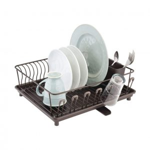 mDesign Sink or Countertop Large Kitchen Dish Drying Rack