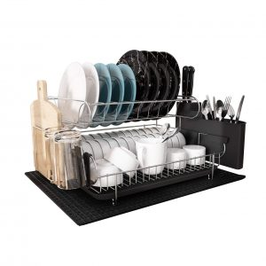 MAJALiS 2 Tier 304 Stainless Steel Dish Drying Rack