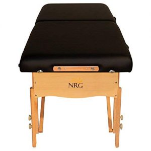 NRG Chi Massage Table - Lightweight and Folding Therapy Table - Black