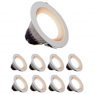 1.Quest LED Lighting 8 Inch (8 Pack) 120-277v Dimmable Canless Downlight- 50,000 Life Hours